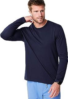 FIGS Ridiculously Soft Long Sleeve Underscrub Shirt for Men — Modern Relaxed Fit Crewneck Shirt