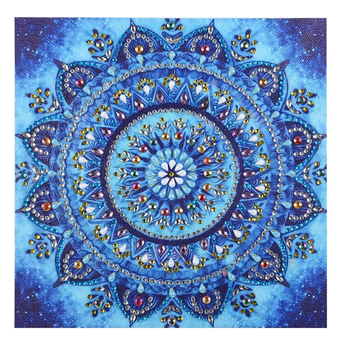 DIY 5D Diamond Painting by Number Kits Embroidery Painting for Wall Decor (Special Shaped Diamond (Mandala 6)