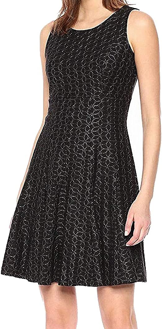 Tommy Hilfiger Women's Floral Outline Lace Flare OFFer Fit and Very popular Dress