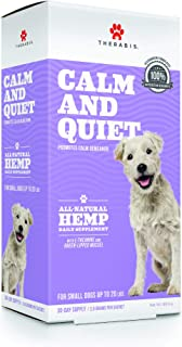 Therabis Calm and Quiet Broad Spectrum Hemp Calming Supplement, Veterinarian Developed and Recommended
