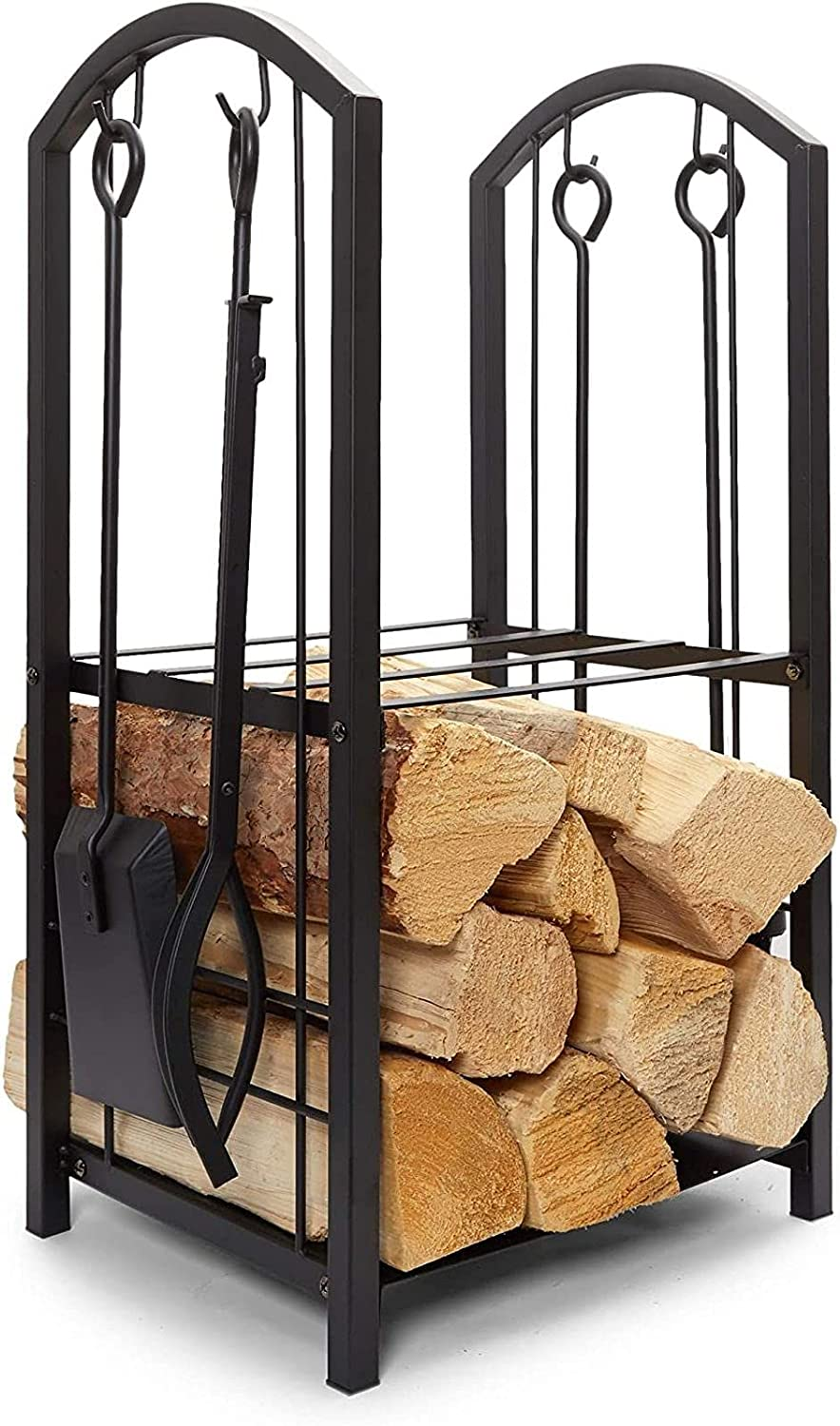 Firewood Rack with Fireplace Oakland Mall Store Tools Outdoo Indoor for Log Holder