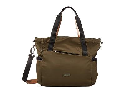 Hedgren Galactic Shoulder Bag/Tote (Earth Green) Tote Handbags