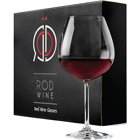 Rotweingläser Set aus hochwertigem Titan Kristallglas, 650 ml, 3-teiliges Kristallgläser & Weingläser Set mit luxuriöser Aufbewahrungsbox, das perfekte & edle Rotwein Weinglas Hochzeitsgeschenk