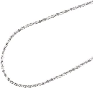 """JFSG 316L Stainless Steel 2mm,2.5mm,3mm,4mm,6mm Men's Or Women's Rope Chain Necklace Lengths 16"""",18"""",20"""",22"""",24"""",26"""" 28"""" 30"""",32"""",34"""",36""""(4mmX16)"""