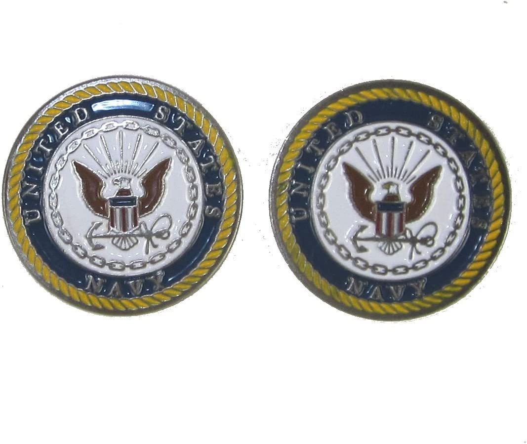 U.S. Navy Double-Sided Ball Marker famous Popularity Golf