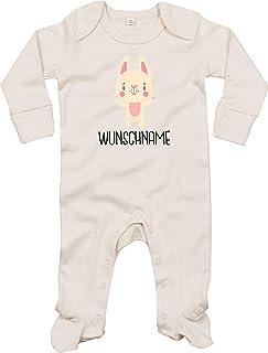 Pijama para bebé, diseño de conejo, nombre personalizado