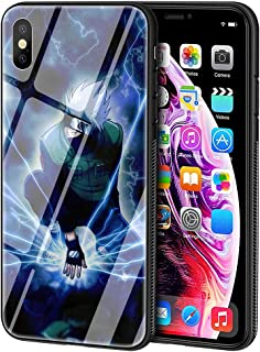 LBIAO 9H Tempered Glass iPhone 5/5s/SE Cases, LB-32 Kakashi Naruto Sasuke Design Printing Shockproof Anti-Scratch Soft Silicone TPU Cover Phone Case for Apple iPhone 5/5s/SE
