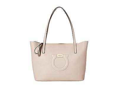 Salvatore Ferragamo City Tote (Bone) Handbags