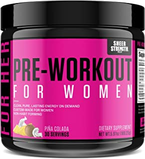 Pre Workout for Women with L Arginine (v2) - Energy, Stamina, Healthy Weight Loss | Non-GMO & Non-Habit-Forming | Nitric O...