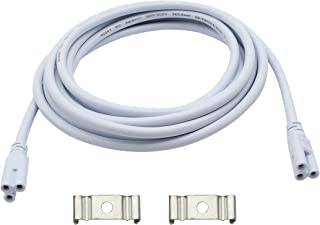 SinLoon T5 T8 LED Lamp Connecting Wire Ceiling Lights Daylight LED Integrated Tube Cable Linkable Cords for LED Tube Lamp Holder Socket Fittings with Cables(10FT/3M,1PACK)