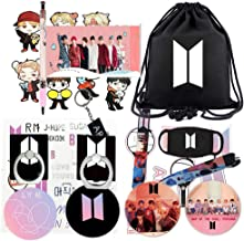 BT Boys Gifts Set-Including Darwstring Bag, Lanyard, Face Mask, Phone Ring Stand, Stickers, Keychain, Pen, Button Pins