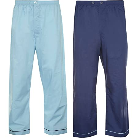 Mens CHAMPION Pyjama Trouser Bottoms 2PK Blue-Navy S