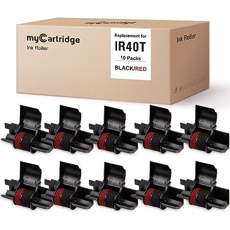 5 pads ir40t Red//Black Compatible olivetti Casio Citizen Canon Epson