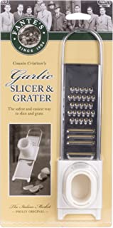 Fantes Garlic Slicer Grater, Stainless Steel, 8.75 x 2.25-Inches, The Italian Market Original since 1906