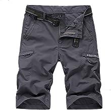 LHHMZ Casual Cargo shorts voor heren, vrije tijd, sneldrogend, gemakkelijk te wassen, wandelen, korte slank broek