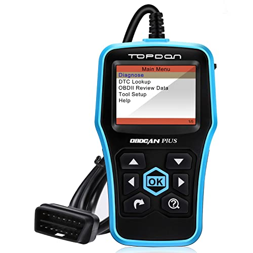 TOPDON Car OBD2 Code Reader – Plus Diagnostic Scan Tool Including Basic OBD2 Functions, Reading
