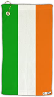 TOOLOUD Irish Flag - Flag of Ireland Micro Terry Gromet Golf Towel 15