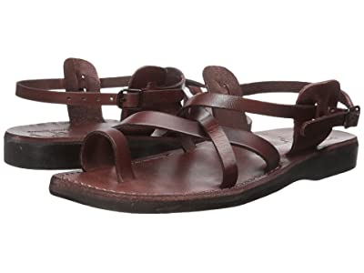 Jerusalem Sandals The Good Shepherd Buckle Mens (Brown) Men