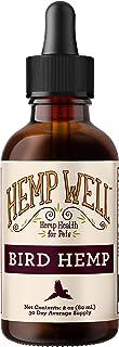 Hemp Well Bird Hemp Oil –Reduces Feather Plucking, Suppresses Destructive Behavior and Promotes Relaxation, Immune Support...