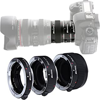 Macro Lens Tube Extension for Canon DSLR, Micnova KK-C68 Pro Auto Focus Macro Extension Tube Set for Canon EOS EF & EF-S Mount 5D2 5D3 6D 650D 750D Film Cameras (12mm 20mm and 36mm Tubes)