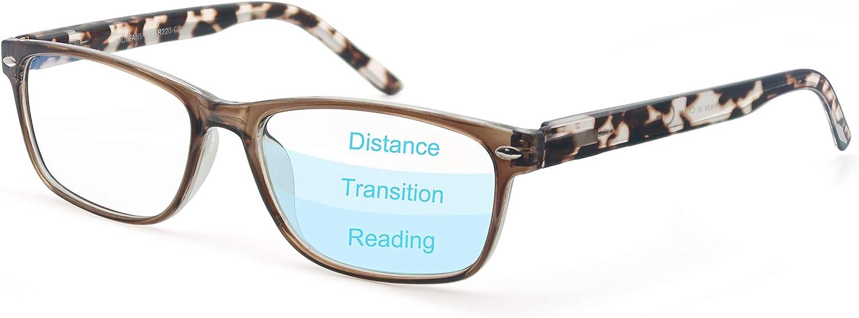 Gafas de Lectura Progresivas de Enfoque Multiple para Hombres y Mujeres,Gafas con Filtro Luz Azul,Anti-UV,Anti-Fatiga Visual,Proteccion para Pantalla/TV/Tablet/Movil/Juegos/Smartphone