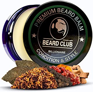 Premium Beard Balm   Billionaire   The Best Beard Conditioner & Softener to Shape & Style your Beard, While Stopping Beard Itch & Flakes   Natural & Organic   Great for Hair Care & Growth