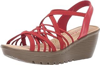 Skechers PARALLEL - CROSSED WIRES - Multi Gore Slingback Sandal womens Wedge Sandal