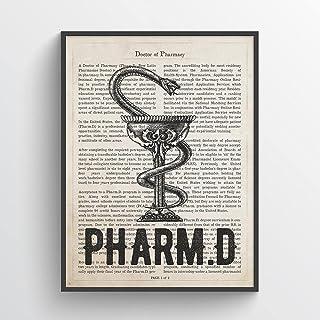Pharmacist Gift PharmD Gift Pills Poster Pharmacy Art Pharmacy Graduation Gift Apothecary Decor Pharmacy Decor Pills Art Print RX Art