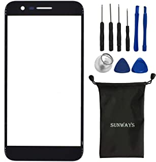 sunways Replacement Screen Front Glass Compatible with LG K20 Plus K20 V VS501(Black)