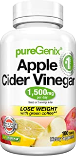 PureGenix Apple Cider Vinegar, 100 Count