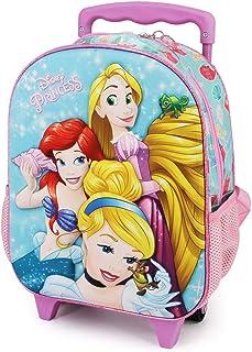 Princesas Disney Beautiful - Mochila 3D con Ruedas Pequeña, Multicolor