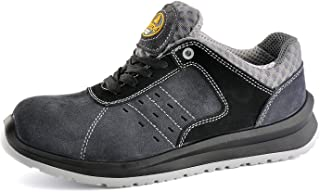 Men's Work Safety Shoes, Composite Toe Work Shoes Lightweight Breathable Work Safety Sneakers Slip Resistant for Industrial & Construction Work (Metal Free)