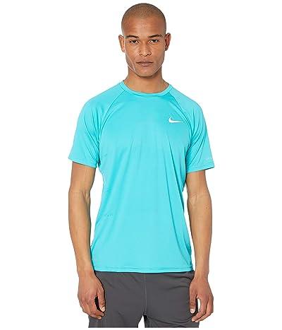 Nike Essential Short Sleeve Hydroguard (Oracle Aqua) Men