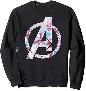 Marvel Avengers Logo Floral Super Hero Sweatshirt