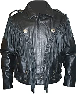 mens leather motorcycle jackets with fringe