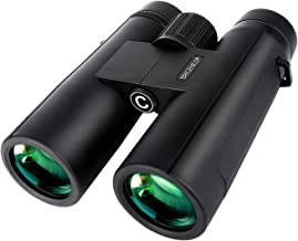 BRIGENIUS 10x42 Roof Prism Binoculars with Clear Weak Light Vision, HD Professional Compact Binoculars for Bird Watching Hunting Travel Outdoor Sports Games and Concerts with BAK4 Prism FMC Lens