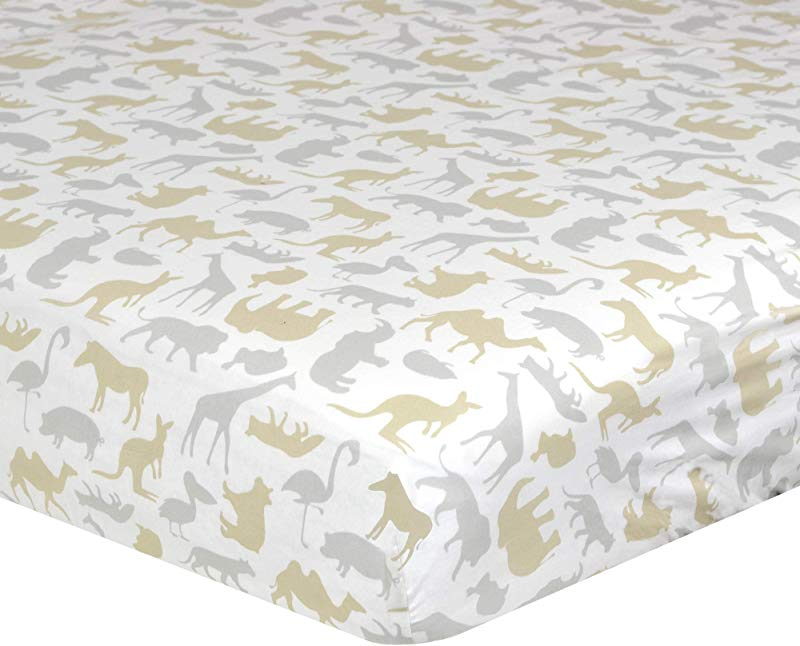 Just Born Dream Sateen Sheet Beige Grey Safari One Size