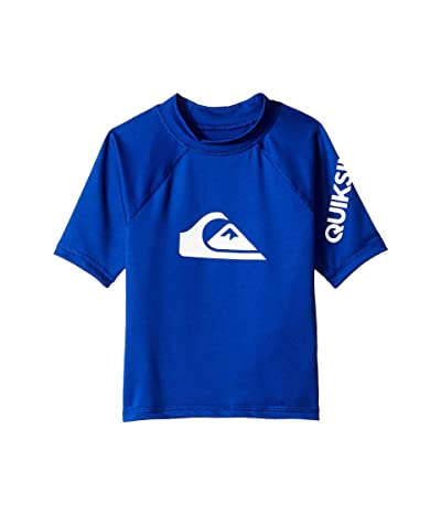 Quiksilver Kids All Time Short Sleeve Rashguard (Toddler/Little Kids) (Electric Royal) Boy