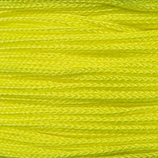 PARACORD PLANET Micro Cord 1.18mm Diameter 125 Feet Spool of Braided Cord - Available in a Variety of Colors Made in The USA (Yellow)