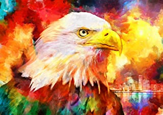 DIY 5D Diamond Painting by Number Kits, ELICE Diamond Painting Kits for Adults Full Drill Rhinestone Fashion Eagle Picture...