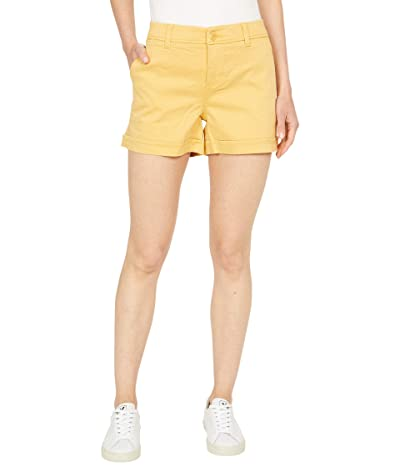 Liverpool Buddy Rolled Trousers Shorts in Golden Yellow Women