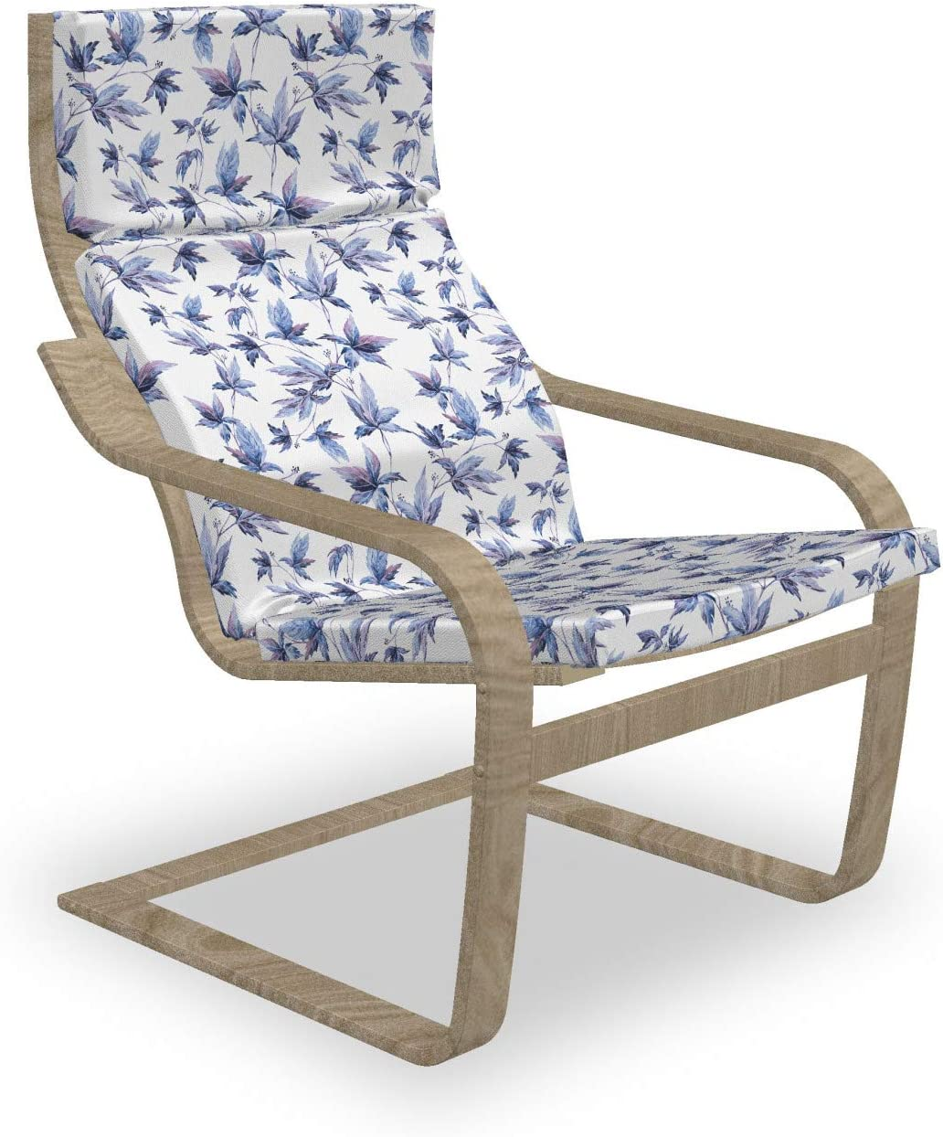 Ambesonne Indigo online shopping Armchair Elegant Pad and Wat Abstract Slipcover Grunge