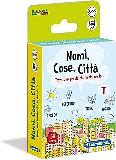 Clementoni - 16563 - Nomi, Cose, Città - Made In Italy - Gioco Da Tavolo, Board Games - Gioco Di Carte Per Tutta La Famiglia - Bambino Dai 7 Anni - Italiano