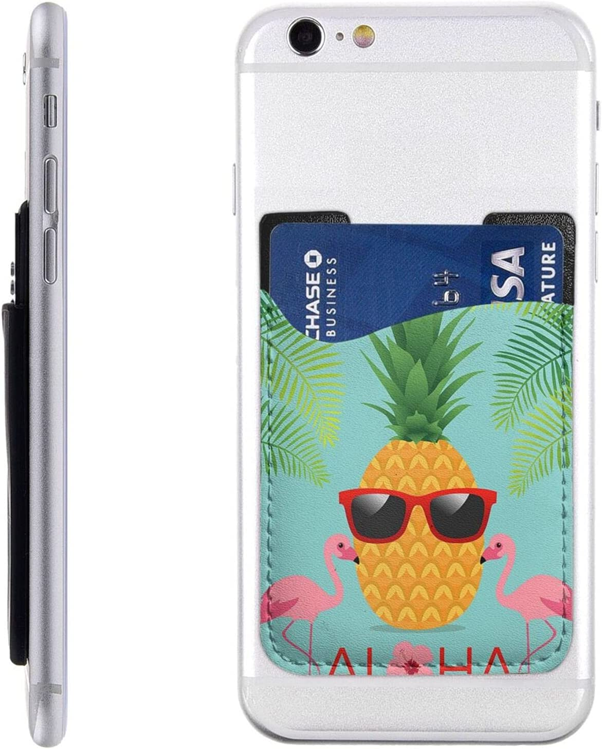 Pineapple Flamingo Phone Card Holder New York Mall On Wa Cell Max 51% OFF Stick
