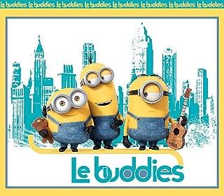 100% Cotton Print Fabric Movie Le Buddies French Minions Panel 45