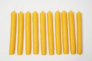 Imkerei Freese 10 Stabkerzen kurz 18,5cm x 2cm aus 100% Bienenwachs vom Imker
