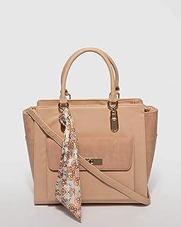 Nude Pink Saroj Pocket Tote Bag