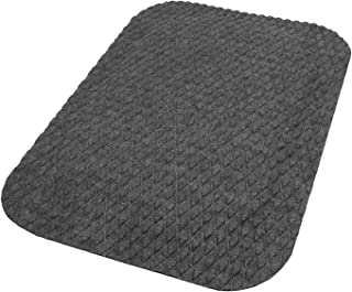 Hog Heaven Fashion Anti-Fatigue Mat – Stain-Resistant, Eco-Friendly, Attractive Fabric Surface Over Durable Memory Foam (Granite, 3' x 5', 7/8-inch Thick)