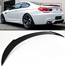Cuztom Tuning Fits for 2012-2017 BMW F13 F06 640i 650i M6 V Style Carbon Fiber Trunk Spoiler Wing Lid