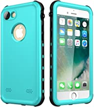 Waterproof Case for iPhone 7/8, Upgraded Shockproof Dropproof Dirtproof Rain Snow Proof Full Body Protective Cover IP68 Underwater Case Fingerprint ID Built-in Screen Protector for iPhone 7 8 (Aqua)